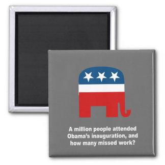 Nahmen Millionen Menschen Obamas an Einweihung Quadratischer Magnet