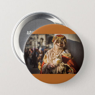 Nahöstliche Karnevalsmaske in Venedig Runder Button 7,6 Cm