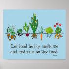 Nahrung als Medizin Poster