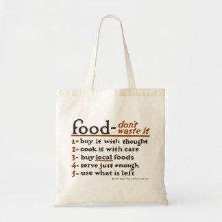 """""""Nahrung-Don't Abfall es"""" Tragetasche"""