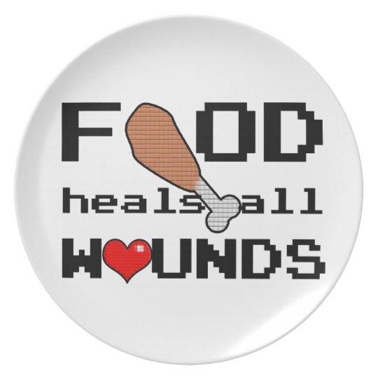 Nahrung heilt alle Wundplatte Melaminteller