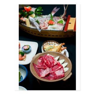 Nahrung in Japan, japanische Nahrung Postkarte