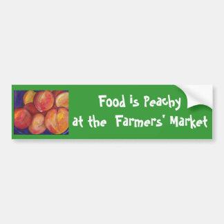 Nahrung ist an der Markt-dem Autoaufkleber der Bau