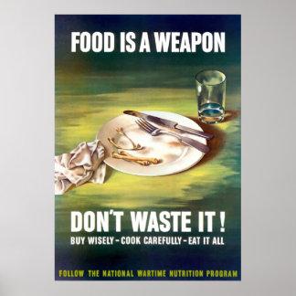 Nahrung ist eine Waffe Poster