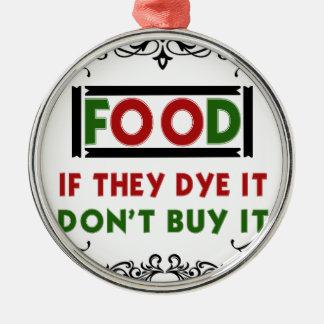 Nahrung Silbernes Ornament