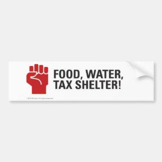 Nahrung, Wasser, Steuerbefreiung! Autoaufkleber