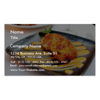 NahrungCrabcakes Abendessen Visitenkarten