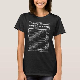 Nahrungs-Tatsachen-politischer T - Shirt Hillary