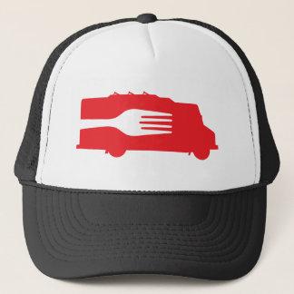 Nahrungsmittel-LKW: Seite/Gabel (rot) Truckerkappe