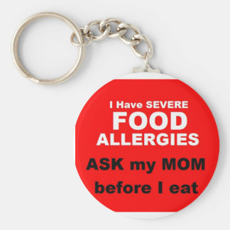 Nahrungsmittelallergien Schlüsselanhänger