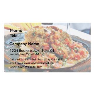 Nahrungsmittelohrschnecken-Abendessen Visitenkarten