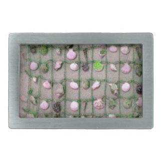 Nahtlose Seashells-themenorientierte Waren Rechteckige Gürtelschnalle