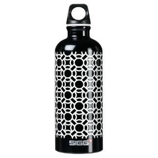 Nahtlose weiße Hintergrund-Farbe des Muster-DIY Aluminiumwasserflasche
