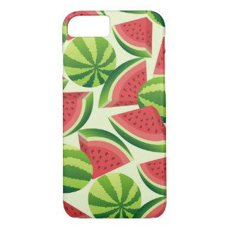 Nahtloser Hintergrund der Wassermelonescheibe iPhone 7 Hülle