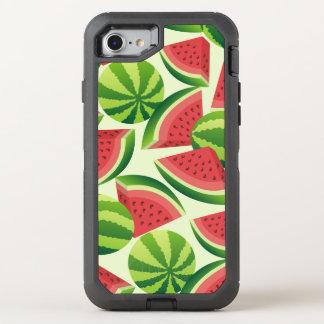 Nahtloser Hintergrund der Wassermelonescheibe OtterBox Defender iPhone 7 Hülle