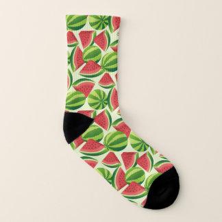 Nahtloser Hintergrund der Wassermelonescheibe Socken