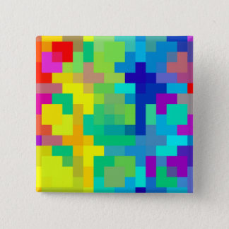 Nahtloser Pixel-Hintergrund mit buntem Quadratischer Button 5,1 Cm