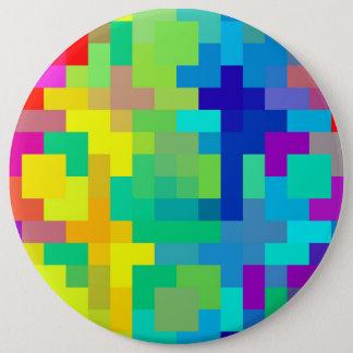 Nahtloser Pixel-Hintergrund mit buntem Runder Button 15,3 Cm