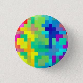 Nahtloser Pixel-Hintergrund mit buntem Runder Button 2,5 Cm
