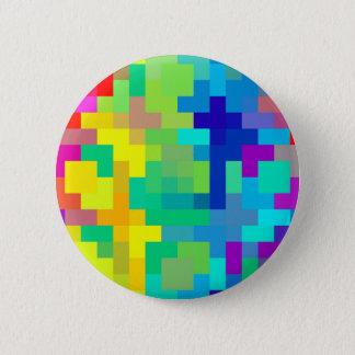 Nahtloser Pixel-Hintergrund mit buntem Runder Button 5,7 Cm
