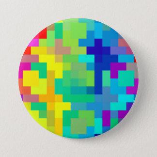 Nahtloser Pixel-Hintergrund mit buntem Runder Button 7,6 Cm