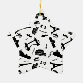 Nahtloser Sehenswürdigkeithintergrund Keramik Stern-Ornament