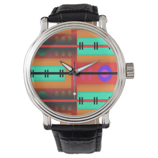 Nahtloses abstraktes Muster Armbanduhr