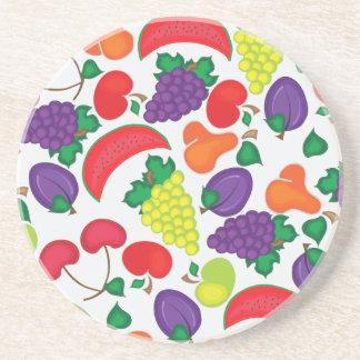 Nahtloses buntes Fruchtmuster Untersetzer