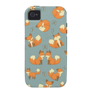 Nahtloses Fox- und Schmetterlings-Muster Case-Mate iPhone 4 Case