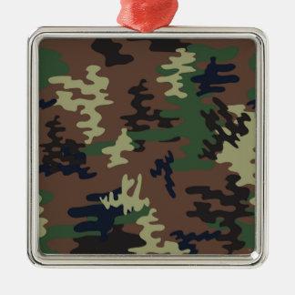 Nahtloses Muster der bunten Tarnung Quadratisches Silberfarbenes Ornament