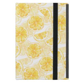 Nahtloses Muster des Aquarells mit Zitronenscheibe Schutzhülle Fürs iPad Mini