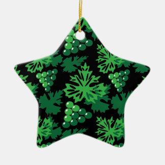 nahtloses Muster des Blätter mit Trauben Keramik Stern-Ornament