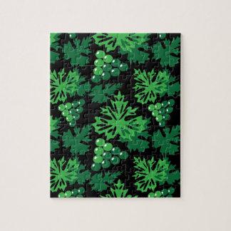 nahtloses Muster des Blätter mit Trauben Puzzle