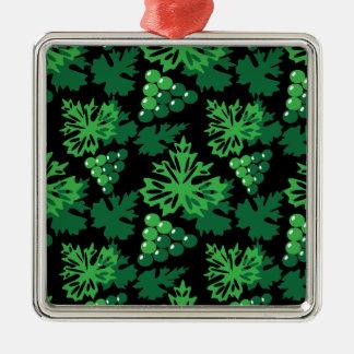 nahtloses Muster des Blätter mit Trauben Silbernes Ornament