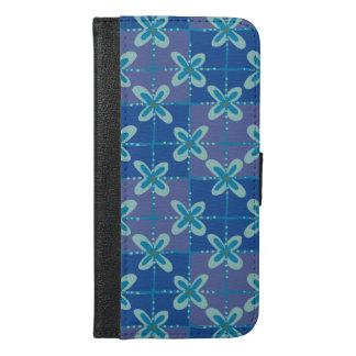 Nahtloses Muster des blauen iPhone 6/6s Plus Geldbeutel Hülle