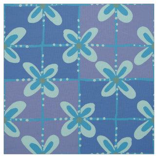 Nahtloses Muster des blauen Stoff