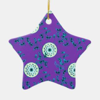 Nahtloses Muster des Dreamcatcher Keramik Stern-Ornament