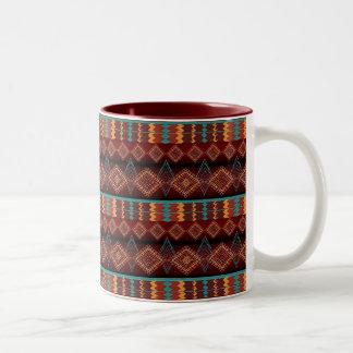 nahtloses Muster des ethnischen Navajos Zweifarbige Tasse