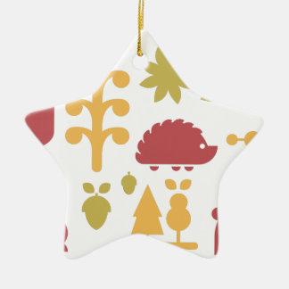 Nahtloses Muster des Herbstes mit niedlichem Keramik Stern-Ornament