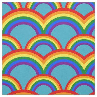 Nahtloses Muster mit Regenbogengewebe Stoff