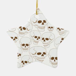 nahtloses Muster mit Schädeln 3,2 Keramik Stern-Ornament