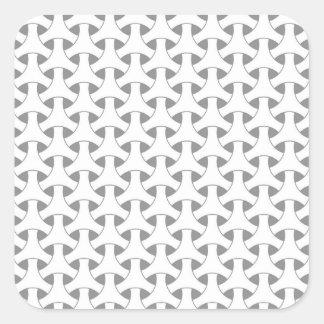 Nahtloses Schwarzweiss-geometrisches Quadratischer Aufkleber