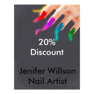Nail Artist Discount Flyer