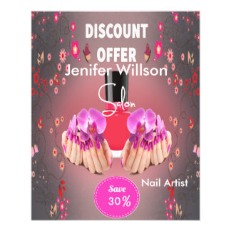 Nail Artist Salon 11,4 X 14,2 Cm Flyer