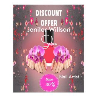 Nail Artist Salon 11,4 X 14,2 Cm Flyer