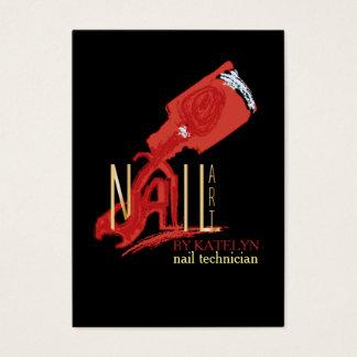 NailArt - Geschäfts-/Zeitplan-Karte Visitenkarte