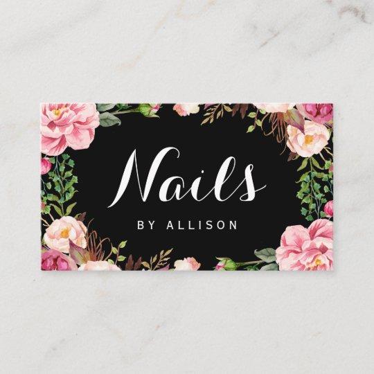 Nails Salon Nail Techniker Romantische Blumenwrap