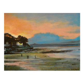 Nairn Strand am Sonnenuntergang Postkarte