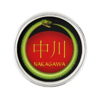 Nakagawa-Monogramm-Schlange Anstecknadel