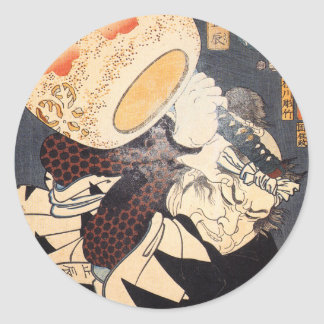 Nakamura durch Utagawa Kuniyoshi Runder Aufkleber